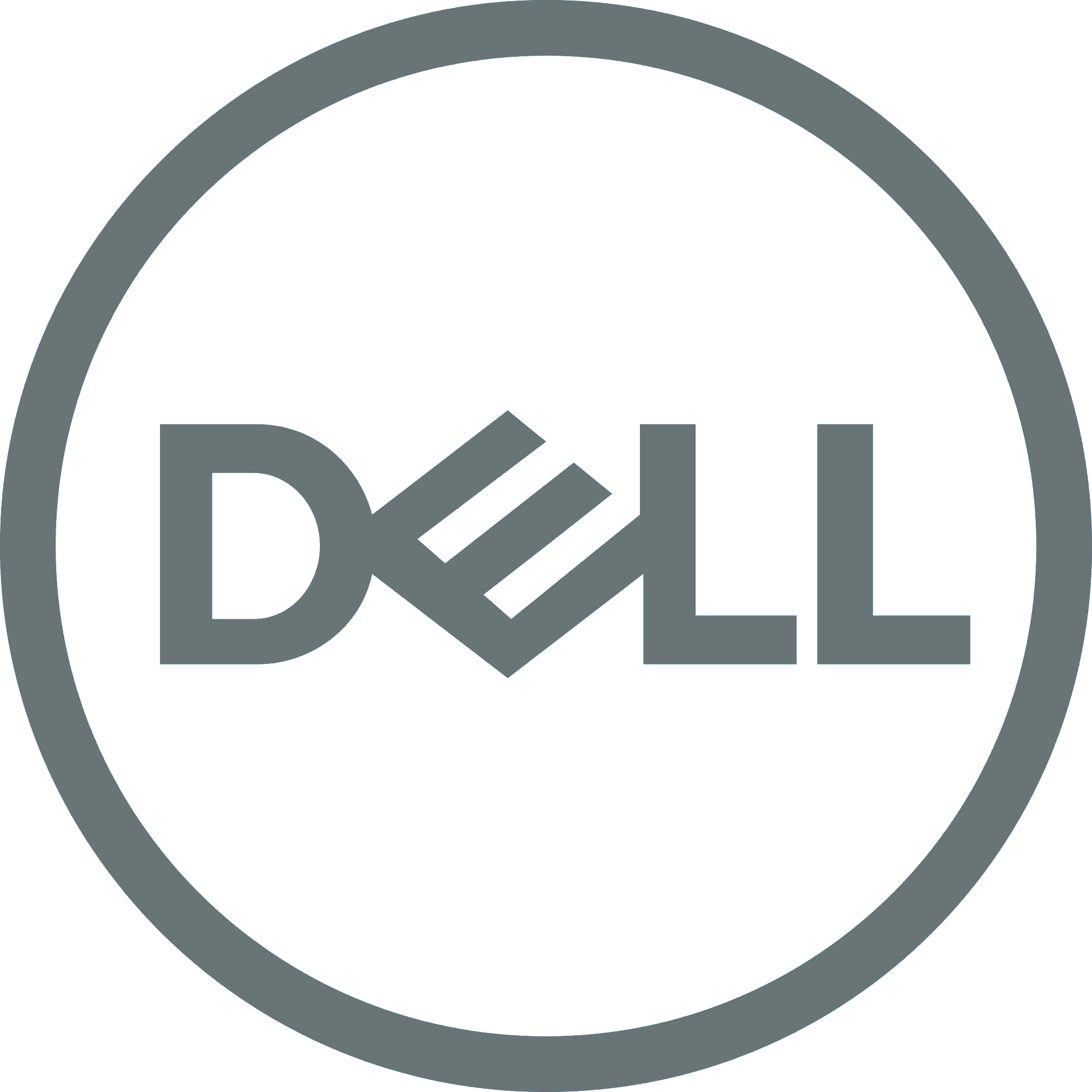 Dell grey logo