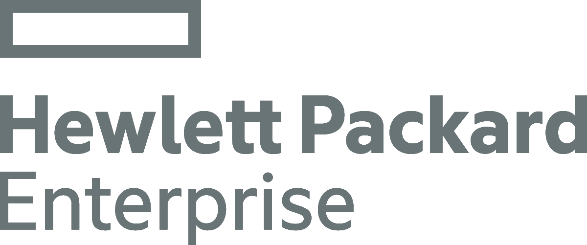 Hewlett Packard Enterprise grey logo