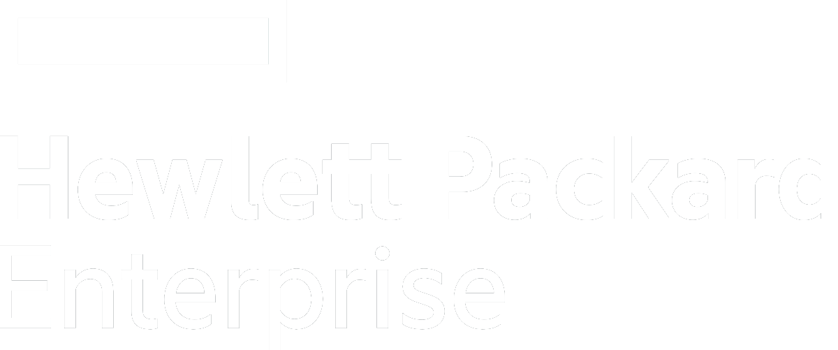 Hewlett Packard Enterprise white logo